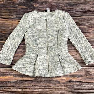 H&M Tweed Blazer Gray size 2